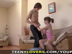 teeny paramours - she is can his abs and penis