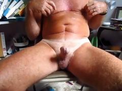 old man handles his 49 year old circumcised weenie