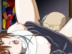 anime sister doing oral-service and receives