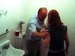 hidden camera caught old pervert getting warm