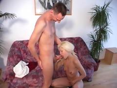 youthful angel takes a stif dick
