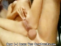 pigtailed cute gal has anal in abode
