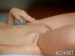 nymph fondles moist snatch