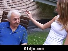 old chap fucking his granddaughter for chastise