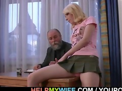 old man pays him to fuck his youthful wife