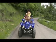 hawt fuck on a drive quad