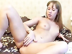 sultry redhead beauty receives to sensually touch