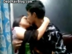 juvenile bangladeshi pair giving a kiss public