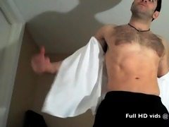 cumming bushy thick muscle cock!