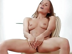 admirable youthful angel masturbating
