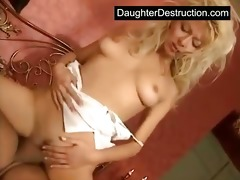 youthful girl takes huge wang in her face hole