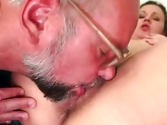 grandad and hairy juvenile beauty pissing and