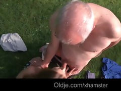grandpa cleans alexiss shaved youthful twat