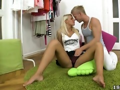 rachel is a juvenile and hot blond virgin who has