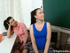 simona and her hot classmate are expecting in the