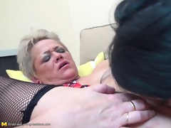 old bitch chews juvenile hookers face off