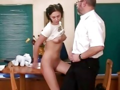 lustful old coach giving lessons