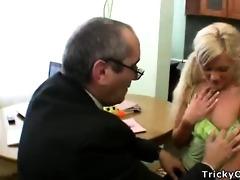 lustful professor seduces hid dumb blonde student