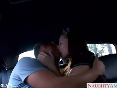 girl youthful gracie glam copulates in the car