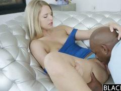 blacked consummate golden-haired cutie squirts on