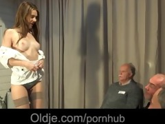 2 old geezers gang group sex wide a wicked