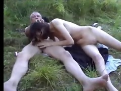 unsightly daddy and not his daughter outdoor