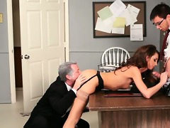hotty taking shlong from both ends in psycho porn
