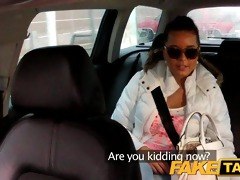 faketaxi sexy 44 year old in taxi cab scam