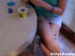 1010 year old teen kitty likes playing with