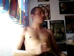 juvenile chap short hair blows a wonderful load