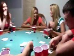 young girls bang on poker night