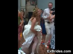 real hawt brides upskirts!