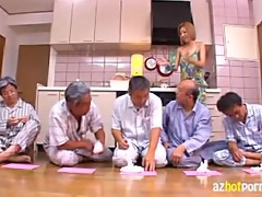 japanese maid screwed by indecent old males