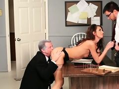 hotty taking cock from the one and the other ends