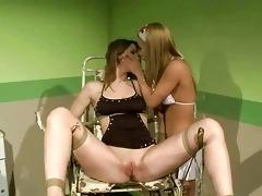 youthful nurse punishing slavegirl