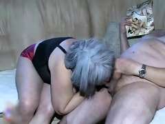 nasty old woman receives fucked hard from part11