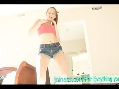 riley hot then do a sensual dance with stripped