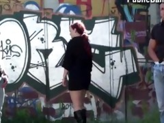 public three-some by tram stop part 48