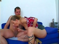 slutty playgirl gives lascivious dad three-some