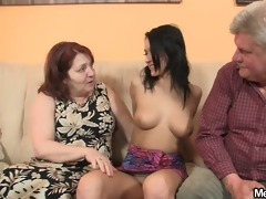 naughty angel fucking with her bf old parents