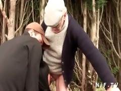 chubby french wench sodomized in trio with papy