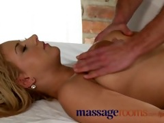 massage rooms young breasty chick has large
