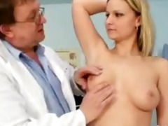 zaneta has her cunt gyno speculum examined by old