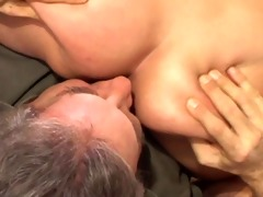 honey blonde a-hole licking with oldman