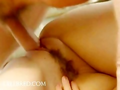 cute youthful girl rides rod with butthole