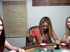 juvenile gals group sex on poker night