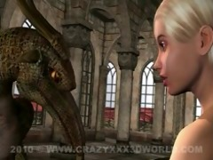 4d animation: fairy and gargoyle