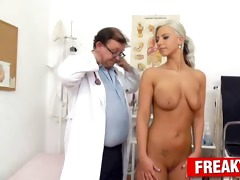 charming nathaly heaven vagina exam