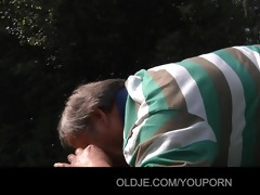 old codger gets worthy fuck with juvenile angel