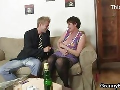 her hairy old cum-hole receives hammered